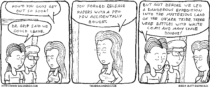 Comic graphic for 2004-03-25: Forgery Expedition