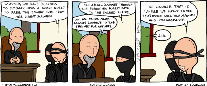 Comic graphic for 2005-01-19: The Origin of Answers