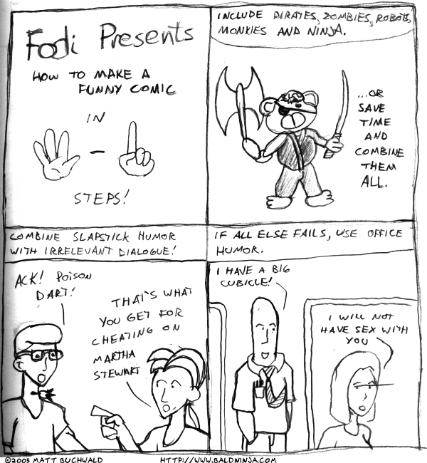 Comic graphic for 2005-04-06: Webcomic Creation for Dummies