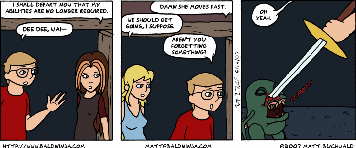 Comic graphic for 2007-06-14: Faster Than a Speeding Eunuch